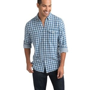 Vineyard Vines Mens Blue Heron Gingham Crosby XL